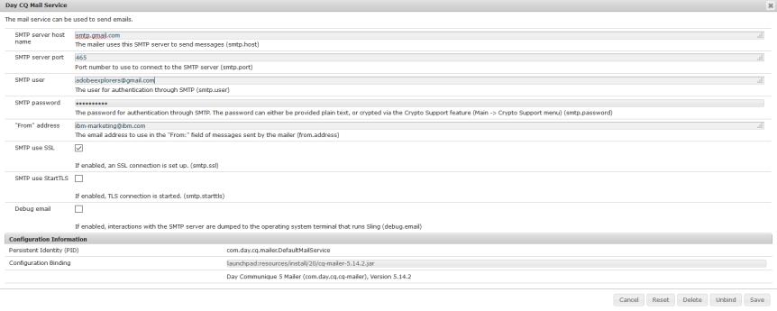 Mail Server Set up in AEM using GMail – Adobe Explorers